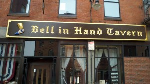 The Bell in Hand Tavern was started by town crier Jimmy Wilson in 1795 and became famous for his gregarious hospitality.