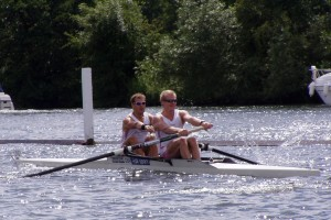 Rowers compete for the Victor Ludorum in the Home International Regatta