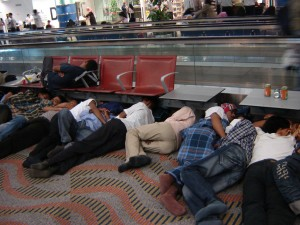 You only expect to sleep in an airport during a major weather event, but mechanical problems can ground you as well. Would you be prepared?